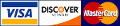 we accept visa discover and mastercard